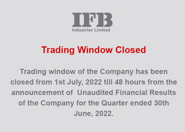 Welcome to IFB Industries Ltd